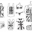 British clothes — Stock Vector