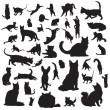 Cat silhouettes — Stock Vector #33205995