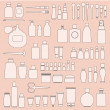Vector de stock : Set of cosmetics