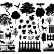 Vector de stock : Farm silhouettes