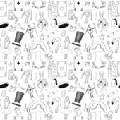 Alice seamless texture — Stock Vector