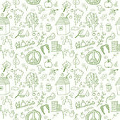 Eco seamless pattern — Stock Vector