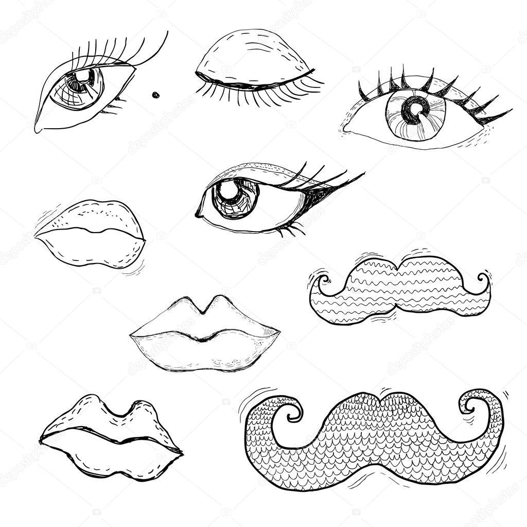 画嘴唇的步骤图侧面