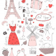 French colored set — Stock Vector