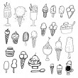 Vector de stock : Ice cream set