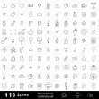 Hand drawn universal set of icons — Stock Vector