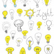 Light bulbs — Stok Vektör