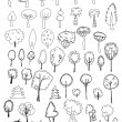 Tree doodles — Stock Vector