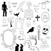Scary symbols — Stock Vector