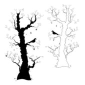 Halloween Trees — Stock Vector