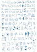 Símbolos dibujados a mano — Vector de stock
