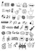 Music symbols — Stock Vector