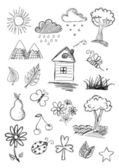 Nature objects — Stock Vector