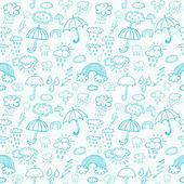 Blue weather symbols — Stock Vector