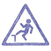 Panneau de signalisation d'accident — Vecteur