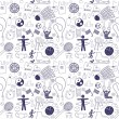 Sport icons seamless pattern — Stock Vector