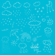 Weather Objects — Stock Vector