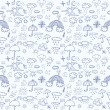 Weather symbols seamless pattern — Stock Vector