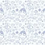 Weather symbols seamless pattern — Stock Vector