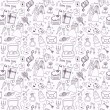Wedding seamless pattern — Imagen vectorial