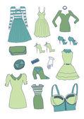 Kvinnor kläder och accessoarer — Stockvektor