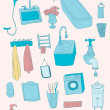 Bathroom objects — Stock Vector #36116437
