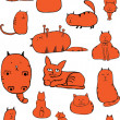 Stock Vector: Cat Sketches