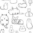 Cat Sketches — Stock Vector