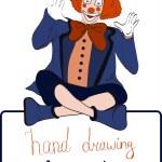 Vector clown — Stock Vector