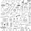 Set of kitchen objects — Stock Vector