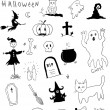 halloween symbols — Stock Vector