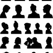 Heads silhouettes — Stockvectorbeeld