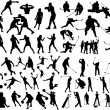 Set of sport silhouettes — Stock vektor