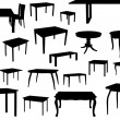 Set of chair silhouettes — Stock Vector