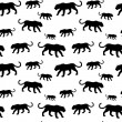 Tiger silhouette seamless pattern — Stock Vector