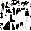 Wedding figures — Stock Vector