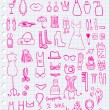 Pink Woman Accessories — Grafika wektorowa