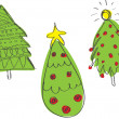 Set of Christmas trees — Stockvectorbeeld