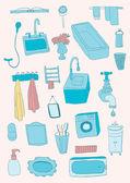 Bathroom objects — Stock Vector