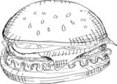 Vector Hamburger — Stock Vector
