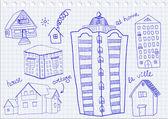 Aantal huizen — Stockvector