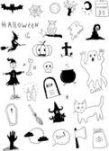 Halloween symbolen — Stockvector
