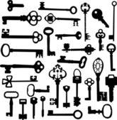 Keys Silhouettes — Stock Vector