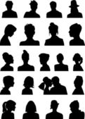 Heads silhouettes — Stock Vector