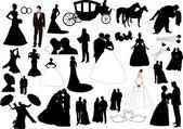 Wedding figures — Stock Vector