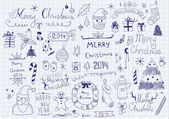Merry Christmas Signs Collection — Vector de stock
