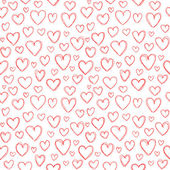 Hearts Doodles — Vettoriale Stock