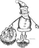 Roliga jultomten — Stockvektor