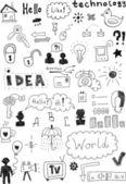 Icon Doodles — Vector de stock