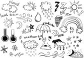 Weather Symbols — Stock Vector